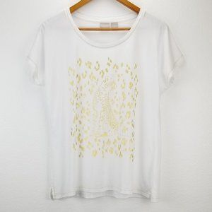 Chico's Gold Cheetah Leopard Graphic Tee